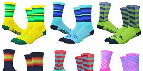 DeFeet Handlebar Mustache Socks