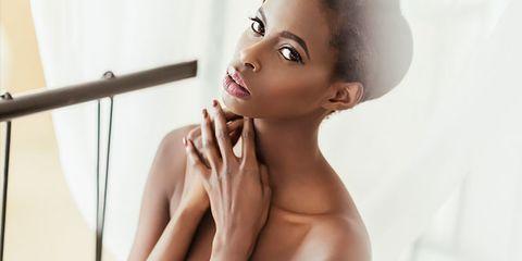 Ear, Lip, Cheek, Finger, Hairstyle, Skin, Chin, Shoulder, Eyelash, Eyebrow,
