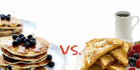 pancakes vs. french toast