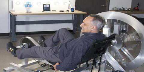 CEO Manoj Bhargava test riding Free Electric