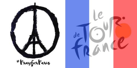 Cyclists hope for #PeaceforParis