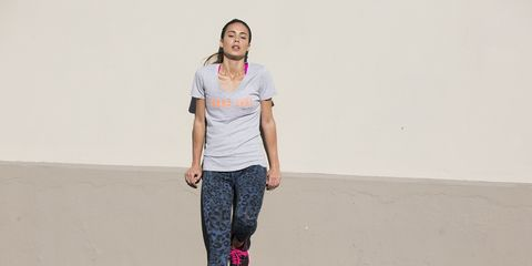 Sleeve, Shoulder, Standing, Joint, Human leg, Pink, Style, Magenta, T-shirt, Street fashion,