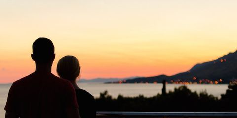 Sunset, Dusk, Horizon, Sunrise, Interaction, Evening, Hill, Afterglow, Back, Morning,