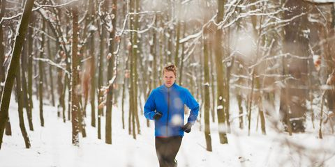 Winter, Branch, Freezing, Running, Outdoor recreation, Jogging, Snow, Electric blue, Exercise, Morning,