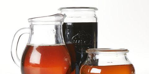 Liquid, Ingredient, Drinkware, Fluid, Serveware, Glass, Mason jar, Amber, Orange, Food storage containers,
