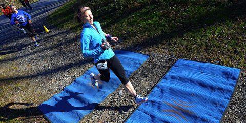 Sarah Bard leads the 2015 JFK 50.