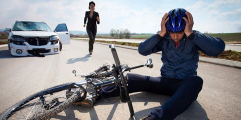 Cyclist recovering from car crash