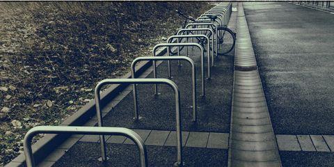 Empty Bike Rack