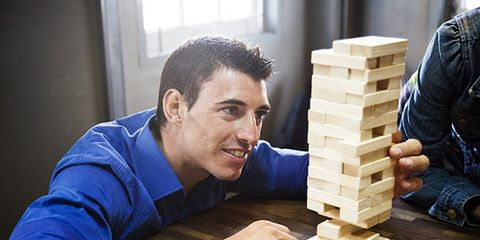 Wood, Toy block, Games, Mechanical puzzle, Educational toy, Play, Varnish, Wooden block, Interlocking block,