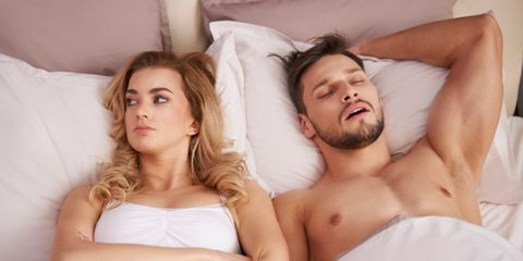 Man snoring after sex