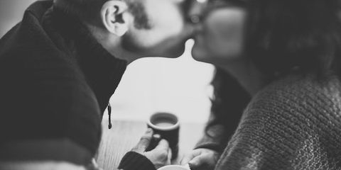 Interaction, Black hair, Friendship, Sharing, Love, Conversation, Romance, Cup, Monochrome photography, Monochrome,