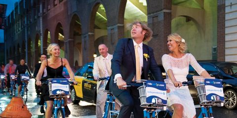 We Dare You to Ride Bikes at Your Wedding