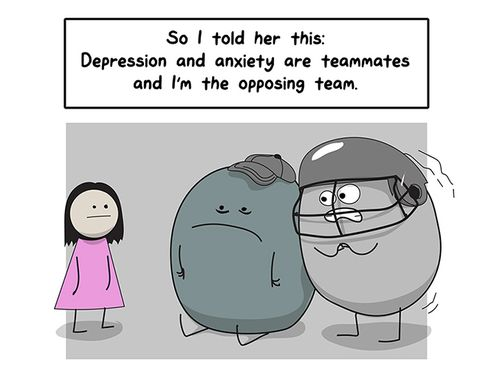 Comic Strip Depression Anxiety Prevention