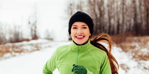 Winter, Mouth, Sleeve, Happy, People in nature, Cap, Snow, Jacket, Glove, Tooth,