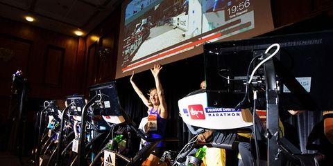 Virtual races are increasing in popularity.