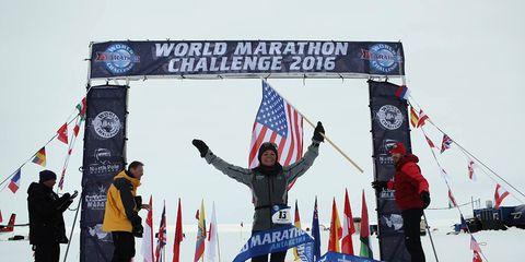 Photo of Becca Pizzi, 2016 World Marathon Challenge winner