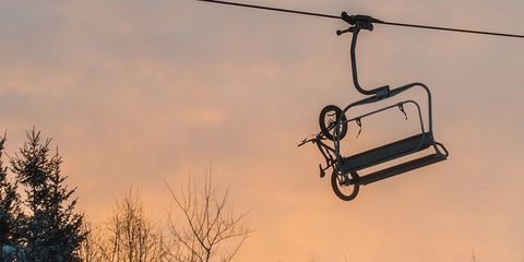 Tired of riding your fat bike uphill? Spirit Mountain's chairlift will carry you to the top.
