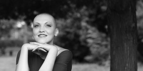 woman with cancer smiling