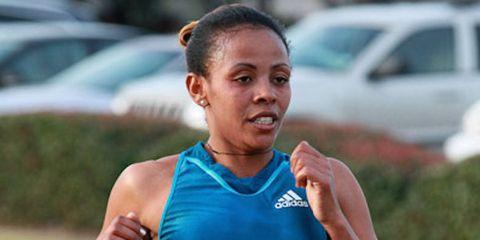Misiker Demissie at the 2015 Houston Marathon