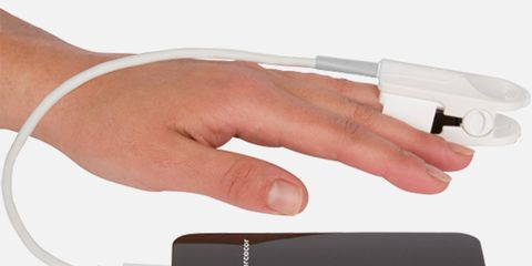 Cercacor's Ember is a portable hemoglobin monitor that uses light-wave technology rather than needles.