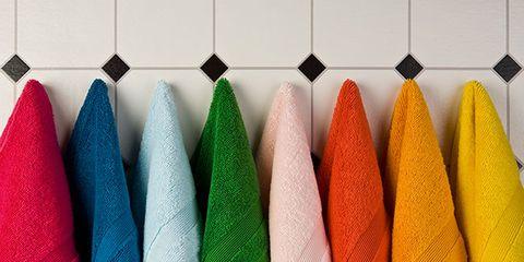 washing bath towels