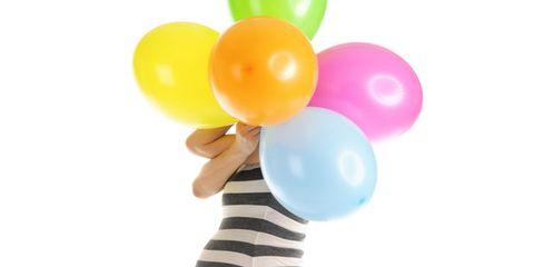 Balloon, Party supply, Polka dot,