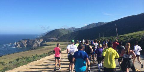 downhill running at Big Sur