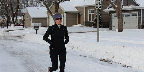Johnston, Iowa mayor Paula Dierenfeld enjoys a snowy run
