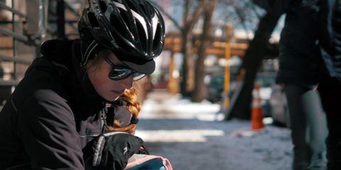 Cat-calling bike messenger PSA