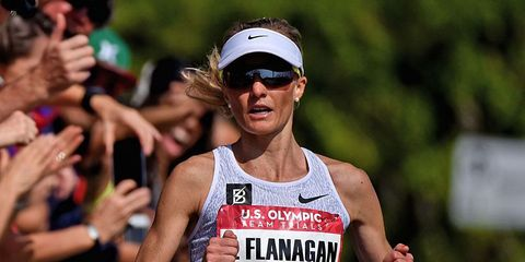 Shalane Flanagan at the 2016 Olympic Marathon Trials