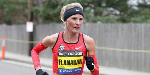 Shalane Flanagan at the 2015 Boston Marathon