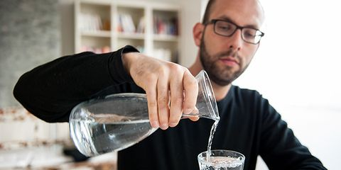 drinking water at meals