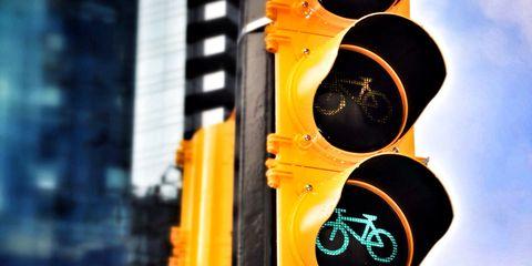 Green bike traffic light