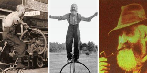 Harry Pop Kramer Rides a Bike