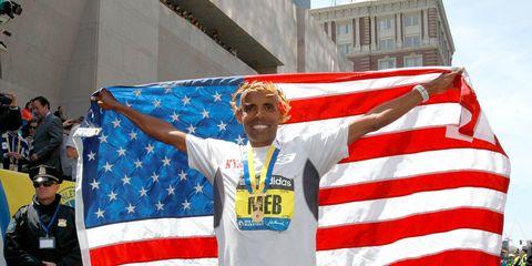 Meb Keflezighi wins the 2014 Boston Marathon