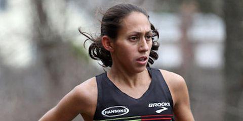 Desiree Linden at the 2015 Boston Marathon