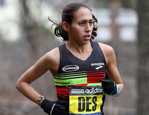71ba642de7baf Desiree Linden at the 2015 Boston Marathon