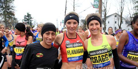 Linden, Flanagan, Cragg at 2015 Boston Marathon