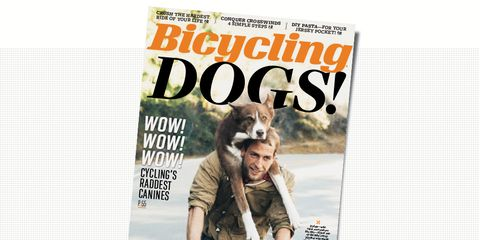 Bicycling magazine March 2016 cover