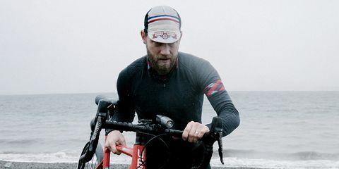 Robert Grunau and his one bike