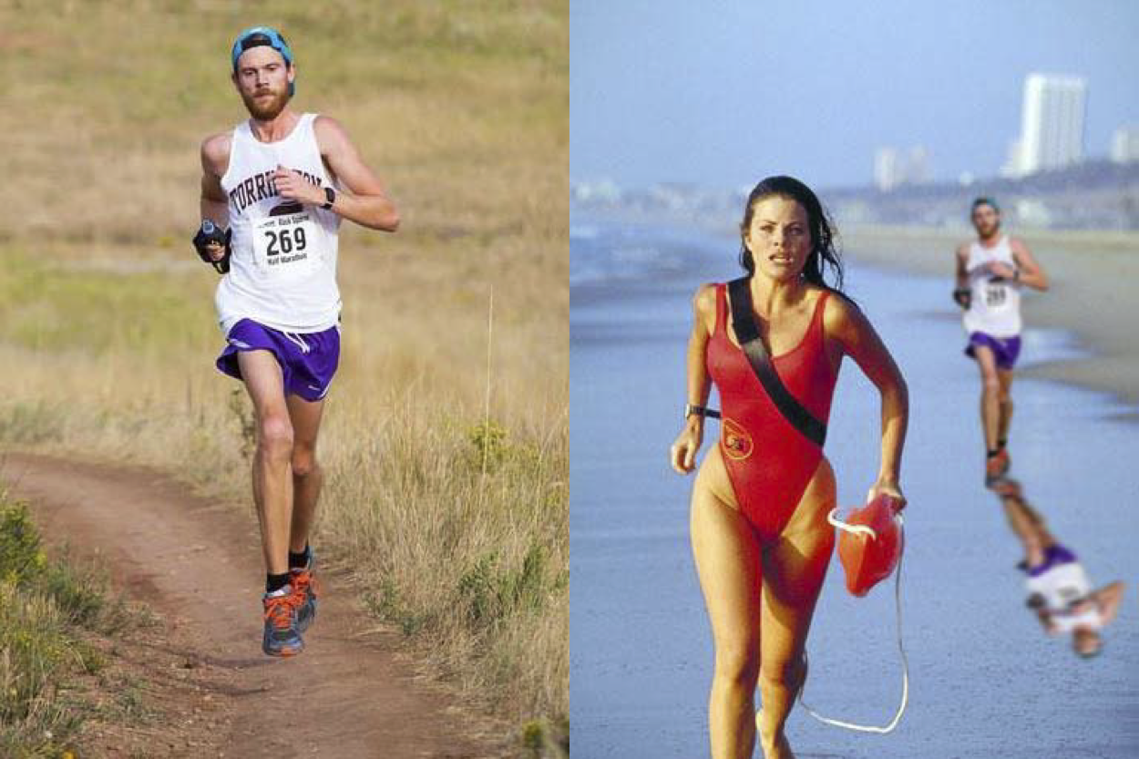 Merciless Friends Won't Stop Photoshopping This Runner's Race Photo