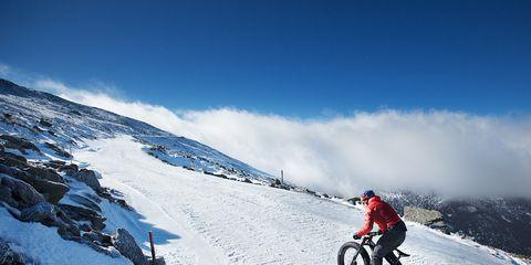 Tim Johnson climbs Mount Washington