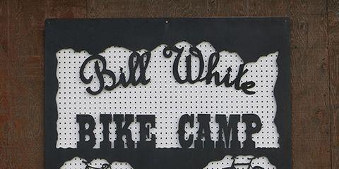 Twin Bridges Bike Camp Sign