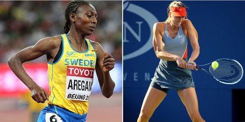 Abeba Aregawi and Maria Sharapova
