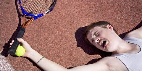 Bad tennis player