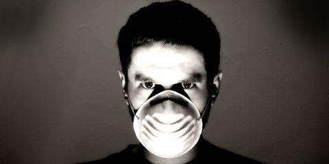 Flu mask.