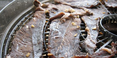 dry cooking meat jerky for a snack