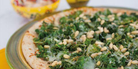 kale and lemon pizza