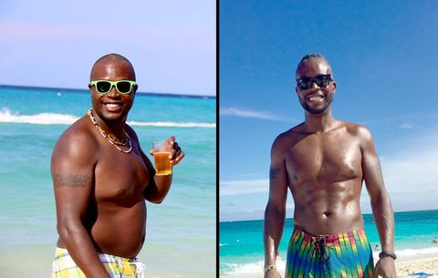 How the Overweight Guy In the First Photo Became the Ripped Man in the Second