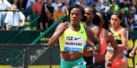 Alysia Montano runs the 800 meters at the Prefontaine Classic